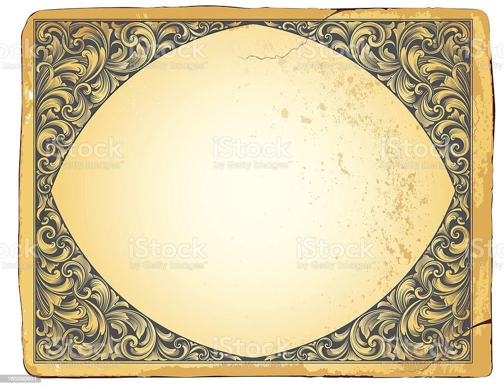 Ornamental Relief Scrolls royalty-free stock vector art