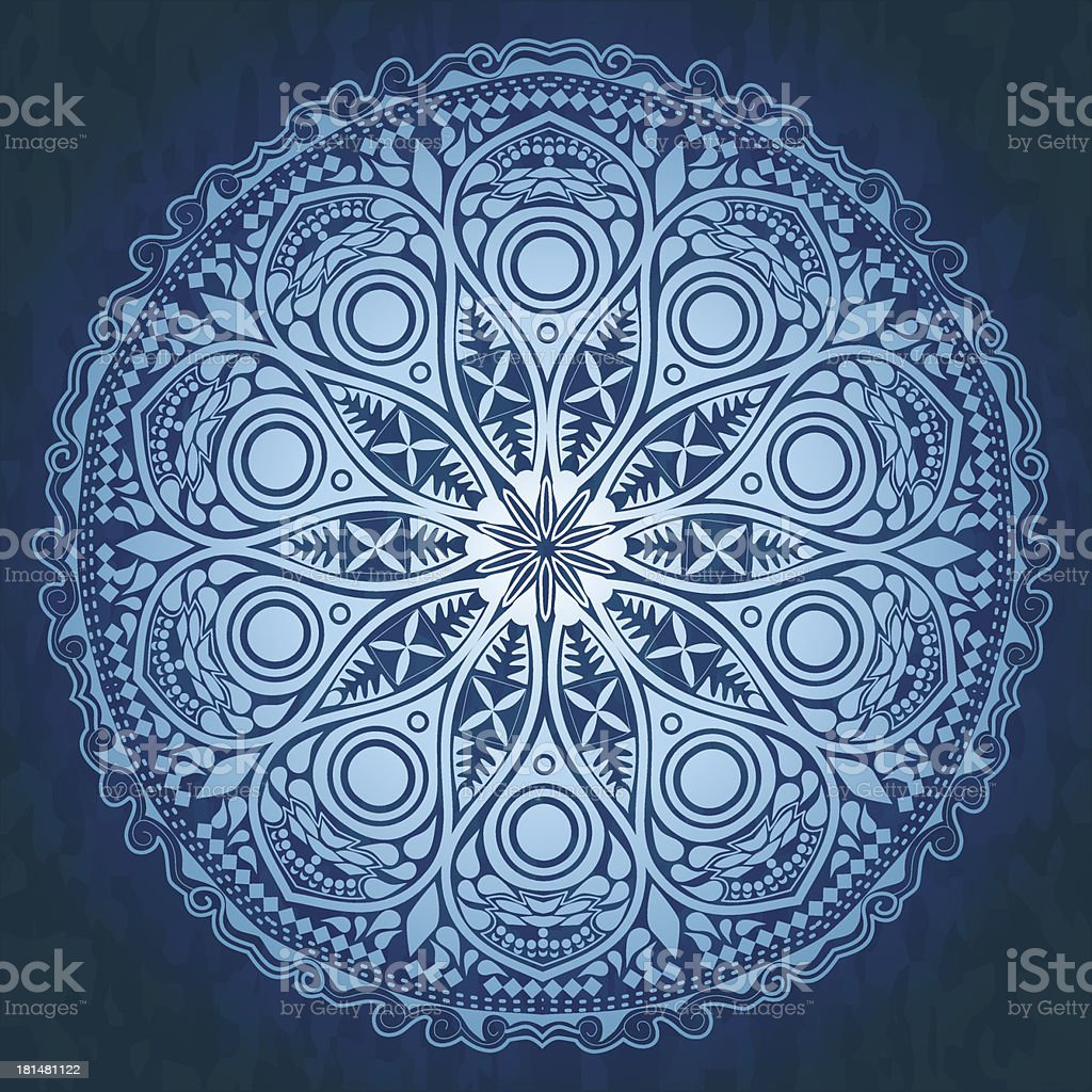 Ornamental round lace pattern, circle background royalty-free ornamental round lace pattern circle background stock vector art & more images of art and craft