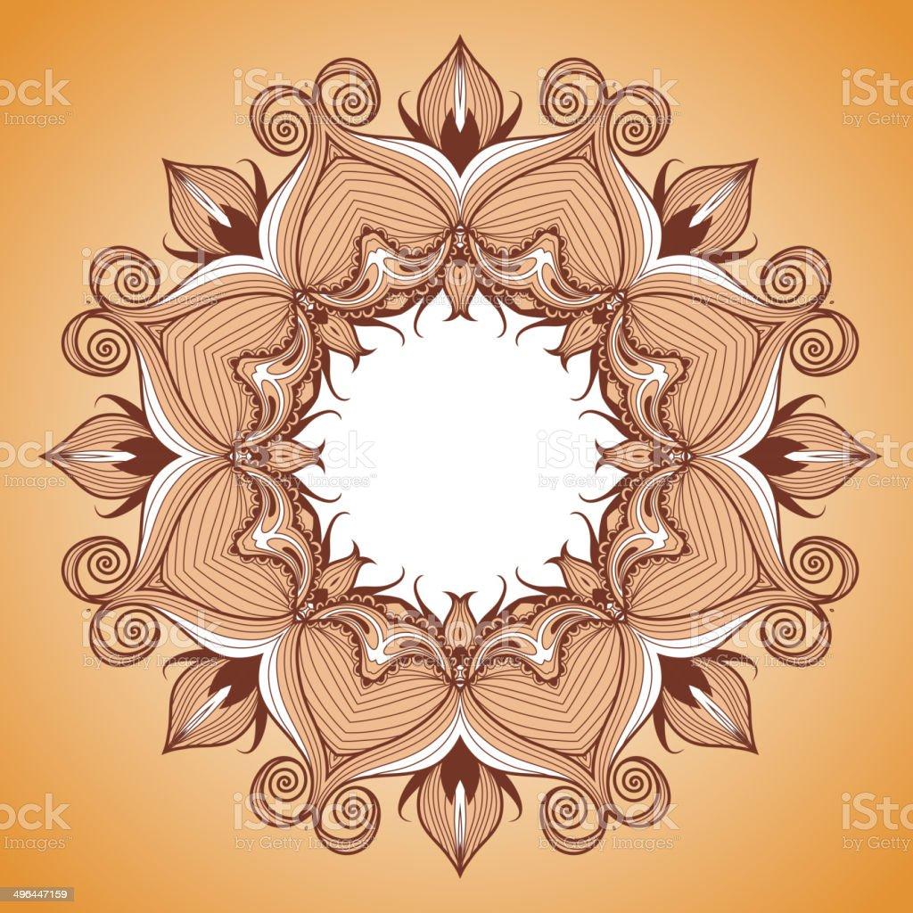 Ornamental round lace pattern is like mandala royalty-free stock vector art