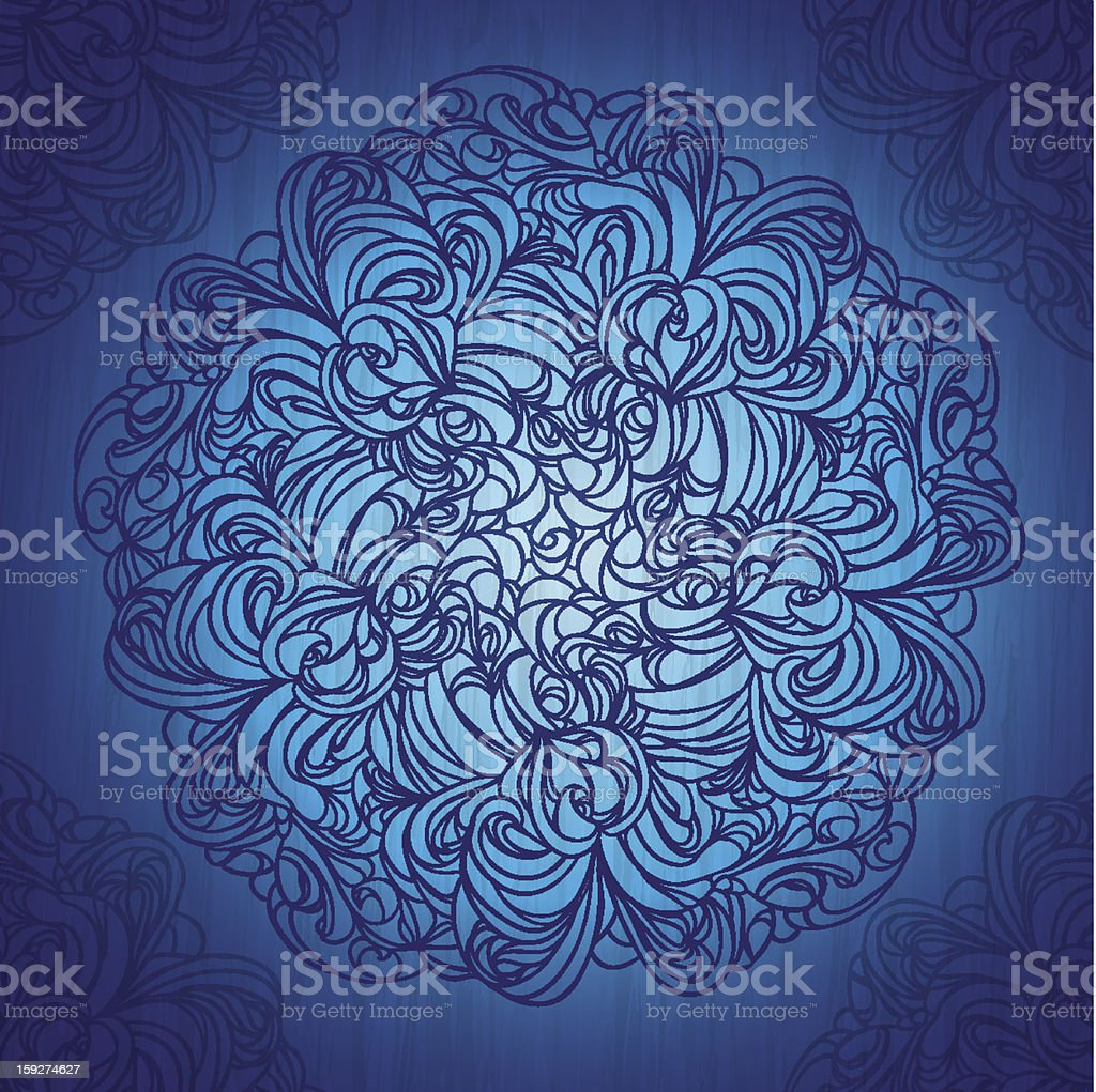 Ornamental round lace pattern on grunge background royalty-free ornamental round lace pattern on grunge background stock vector art & more images of art and craft