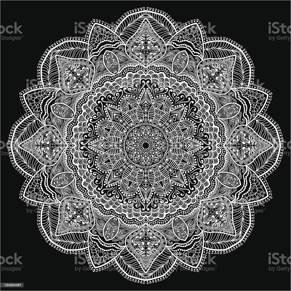 Ornamental round lace pattern royalty-free ornamental round lace pattern stock vector art & more images of art and craft