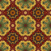 Ornamental round morocco seamless pattern. Orient traditional ornament. Oriental motif. Flat. Moroccan tile