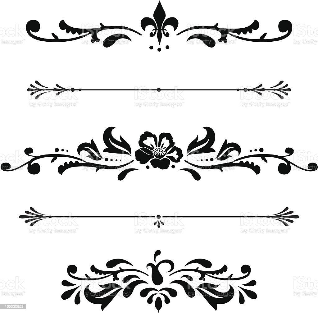 Ornamental Rules royalty-free stock vector art