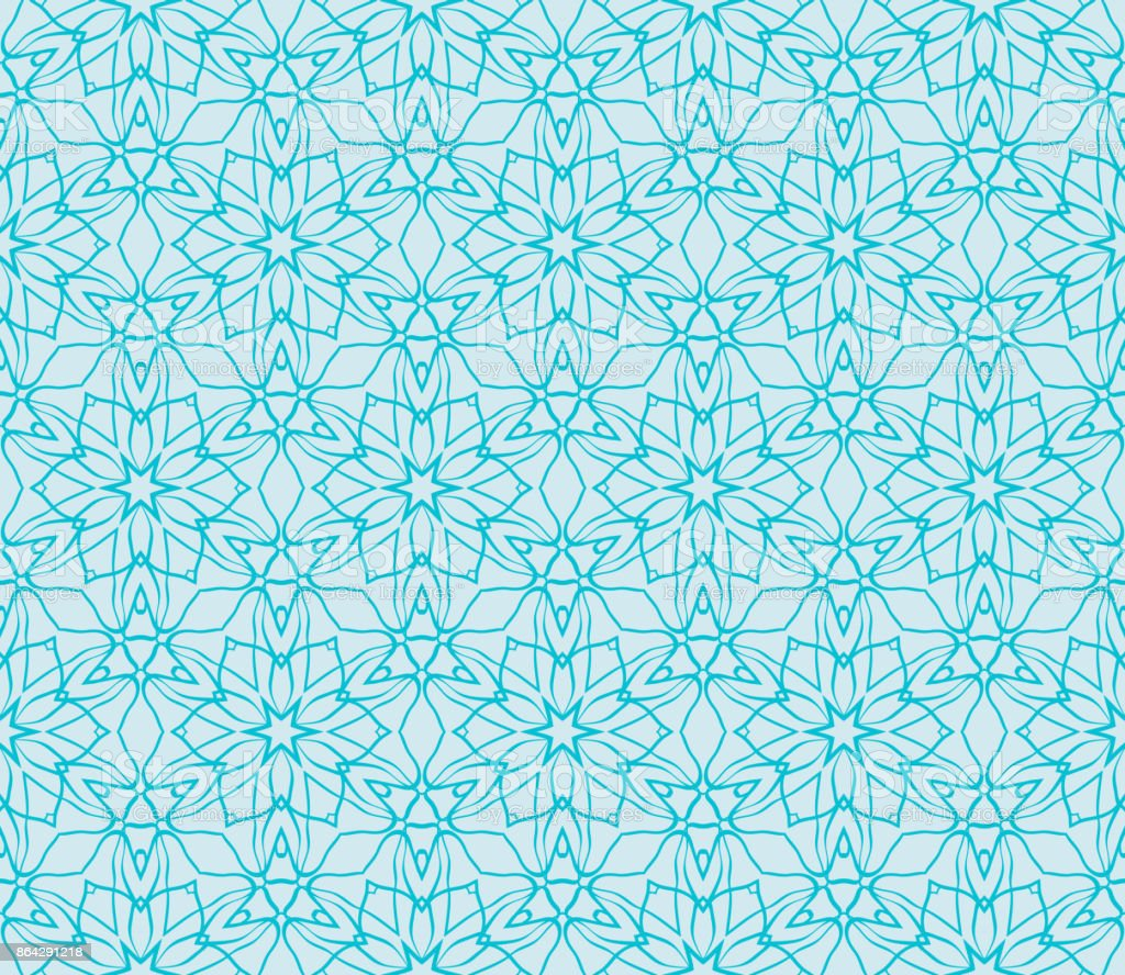 Ornamental seamless lace pattern in geometric style. Floral ornament. vector illustration. For design cloth, paper, print, textile. blue ocean water color royalty-free ornamental seamless lace pattern in geometric style floral ornament vector illustration for design cloth paper print textile blue ocean water color stock vector art & more images of backdrop