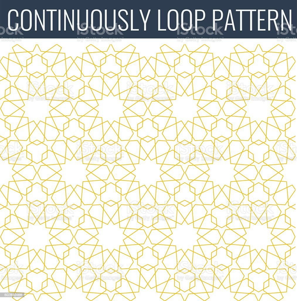 Ornamental seamless loop arabic or islamic geometric pattern tiles. vector art illustration