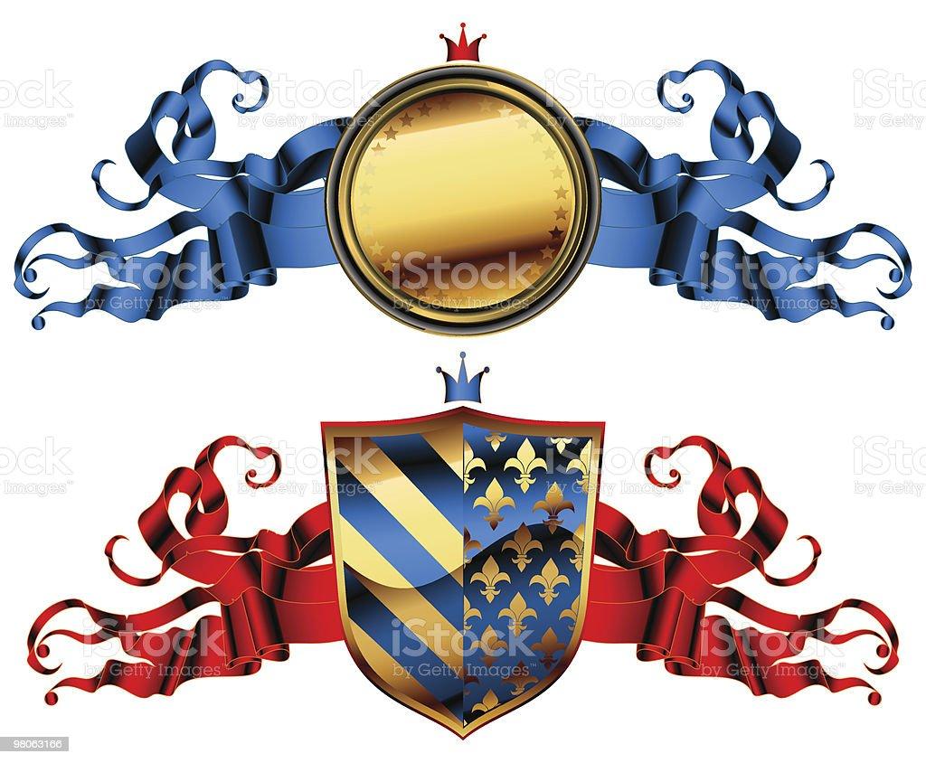 Scudo ornamentale scudo ornamentale - immagini vettoriali stock e altre immagini di decorazione festiva royalty-free