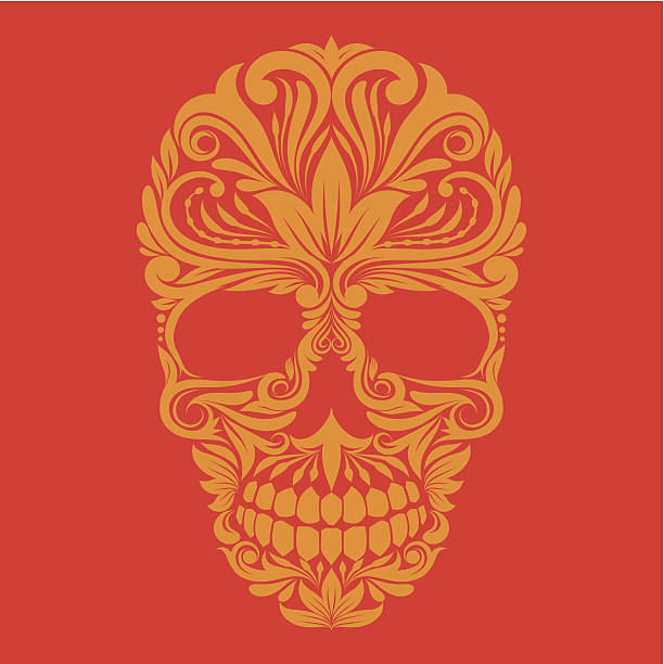 Ornamental Skull vector art illustration