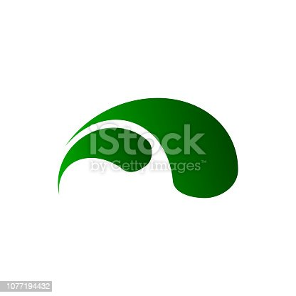 istock Ornamental Splash Water Logo Template, blue water, splash and gale, vector illustration 1077194432