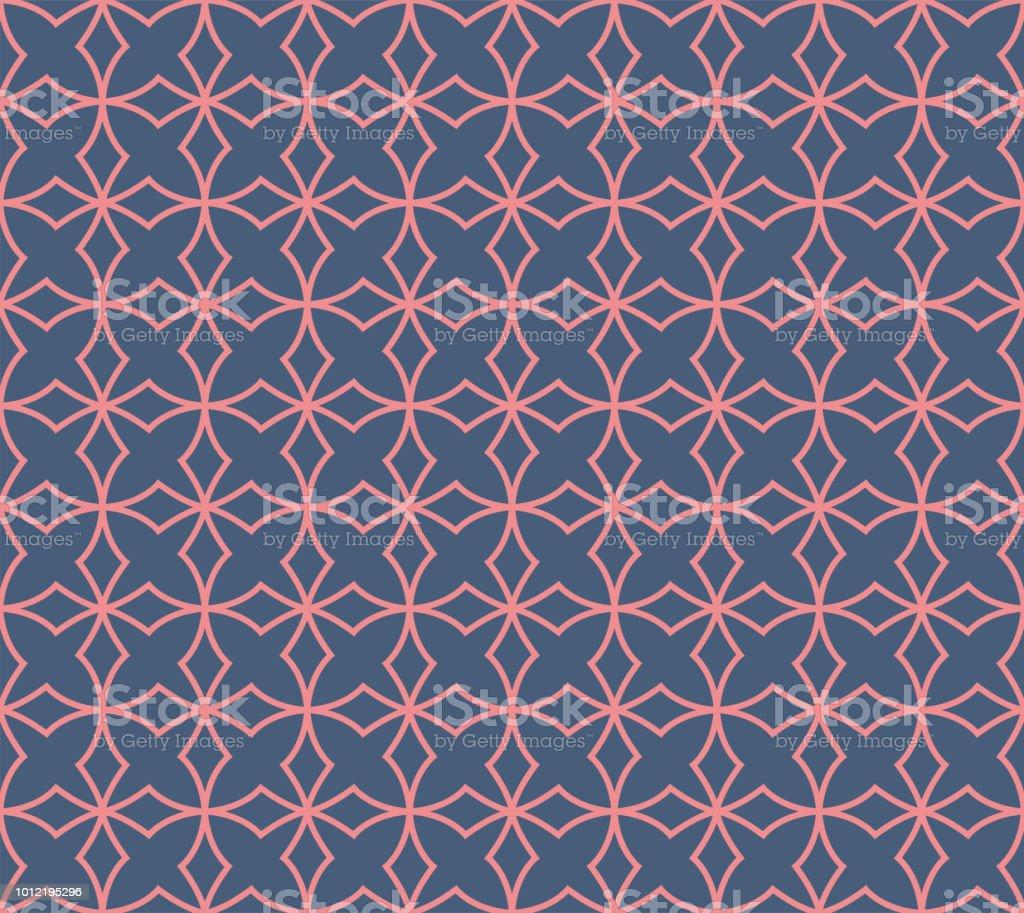Ornamental vitoriana sem costura padrão de estrelas. Textura abstrata floral do vetor. - ilustração de arte em vetor