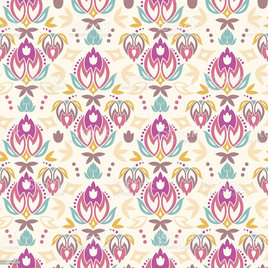 Ornamental Summer Seamless Pattern Background royalty-free stock vector art