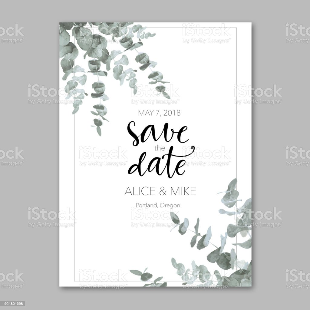 Ornamental template with invitation vector art illustration