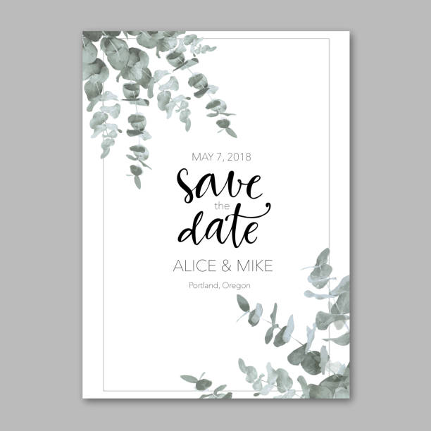 illustrazioni stock, clip art, cartoni animati e icone di tendenza di ornamental template with invitation - matrimonio