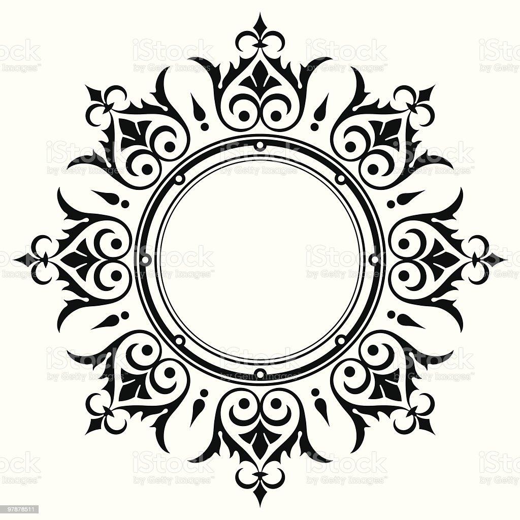 Ornamental vintage border frame royalty-free stock vector art