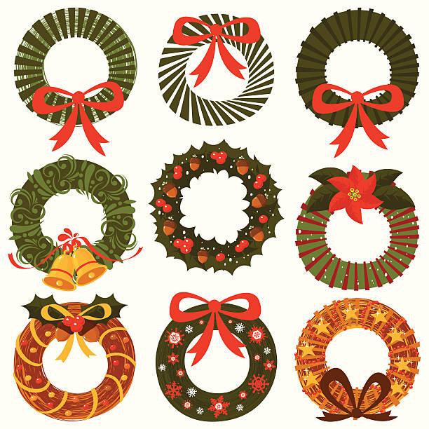 Ornamental Wreath collection vector art illustration