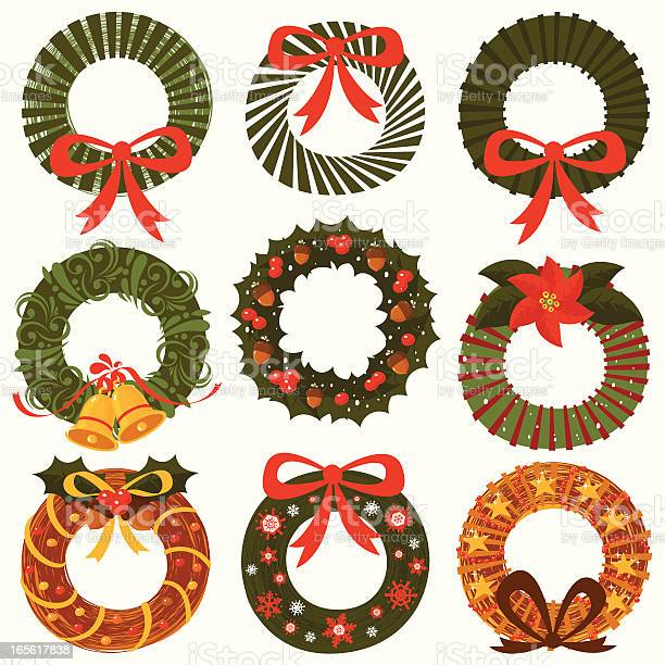 Ornamental Wreath Collection Stock Illustration - Download Image Now