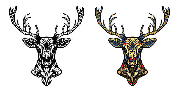 Top 60 Deer Totem Pole Clip Art Vector Graphics And Illustrations