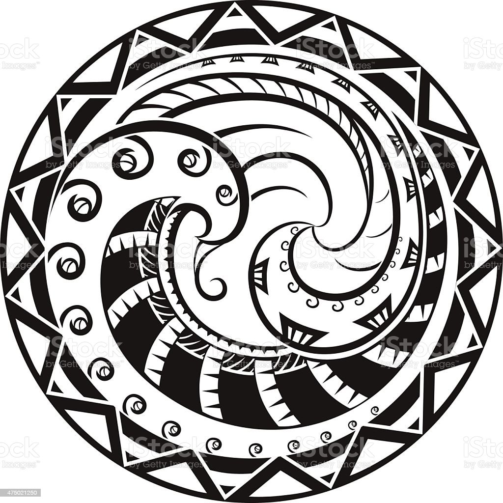 Ornaments in the style of the Maori vector art illustration