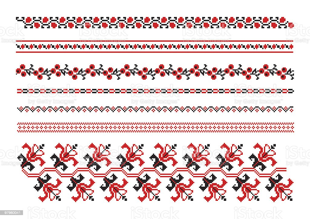 ornaments of ukrainian embroidery royalty-free ornaments of ukrainian embroidery stock vector art & more images of abstract