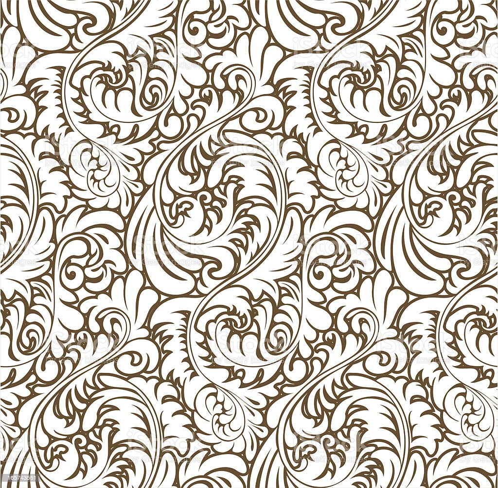 Ornate Abstract Baroque Pattern (Seamless) vector art illustration