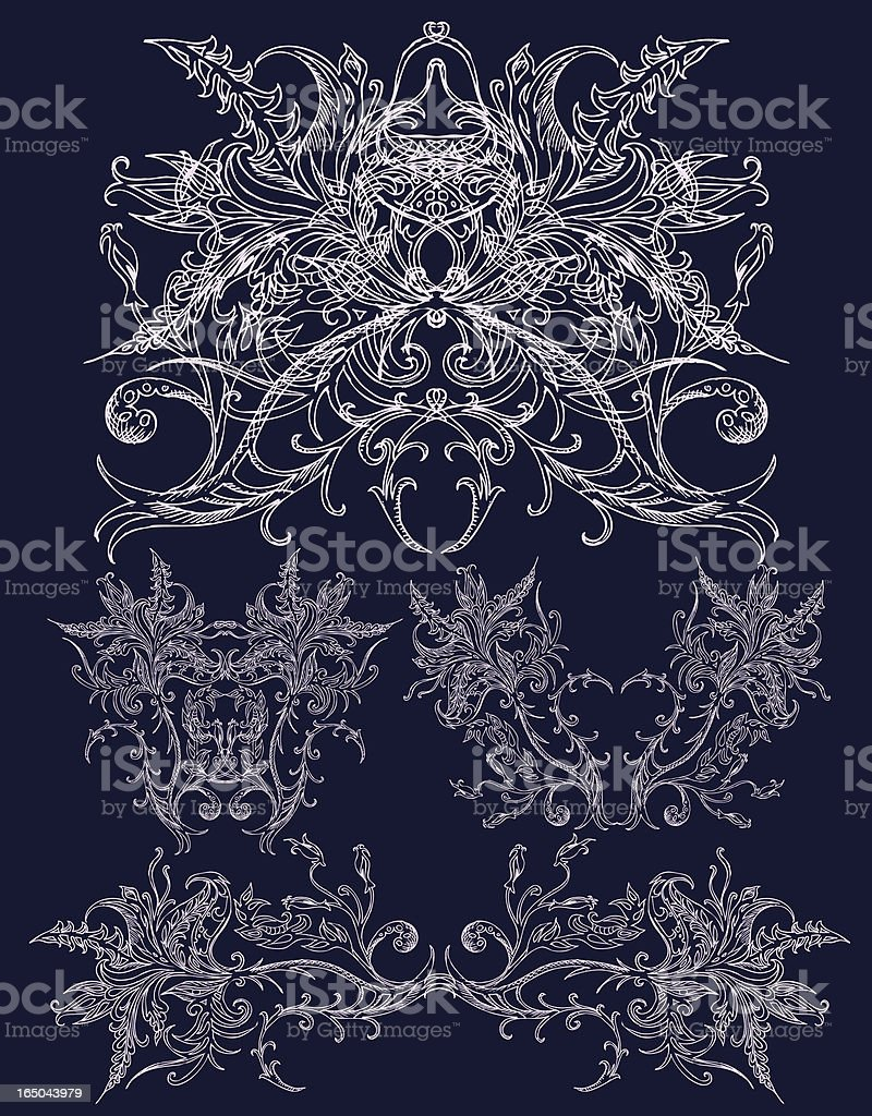 ornate and classic royalty-free stock vector art