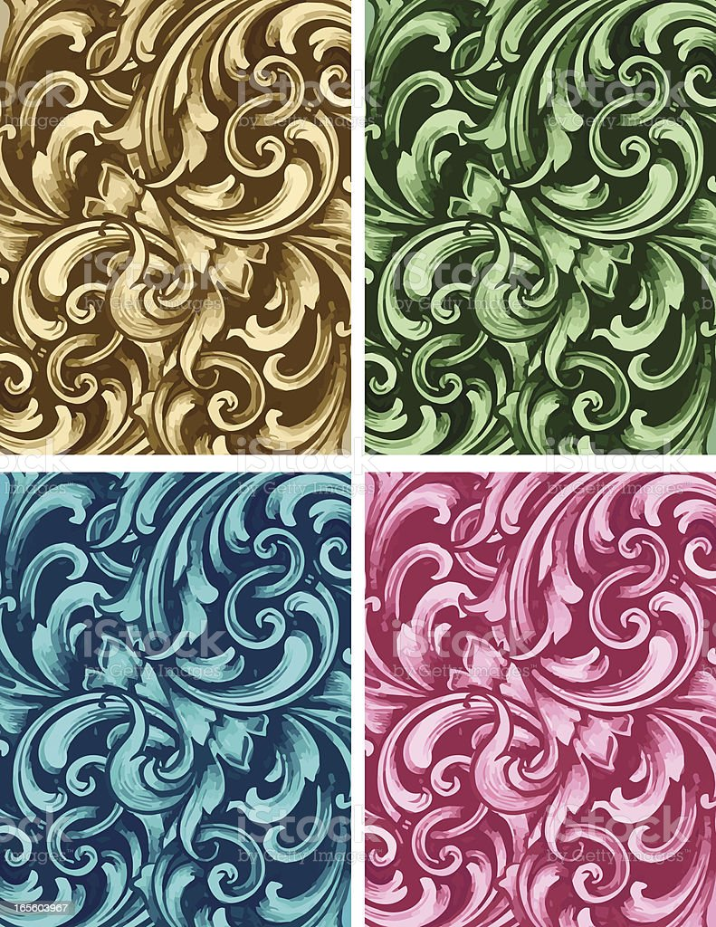 Ornate Background Set royalty-free stock vector art