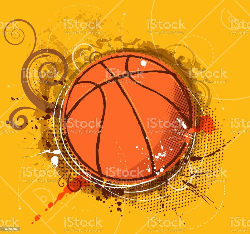 Ornamentado de baloncesto - ilustración de arte vectorial