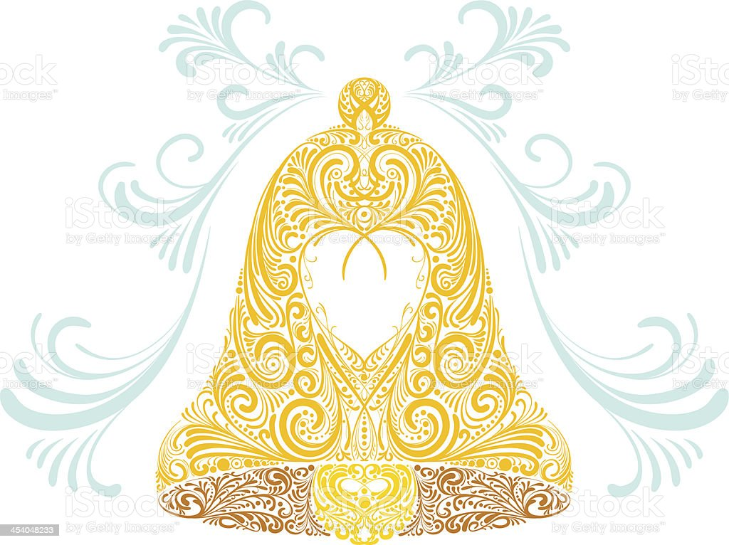 Ornate Bell vector art illustration