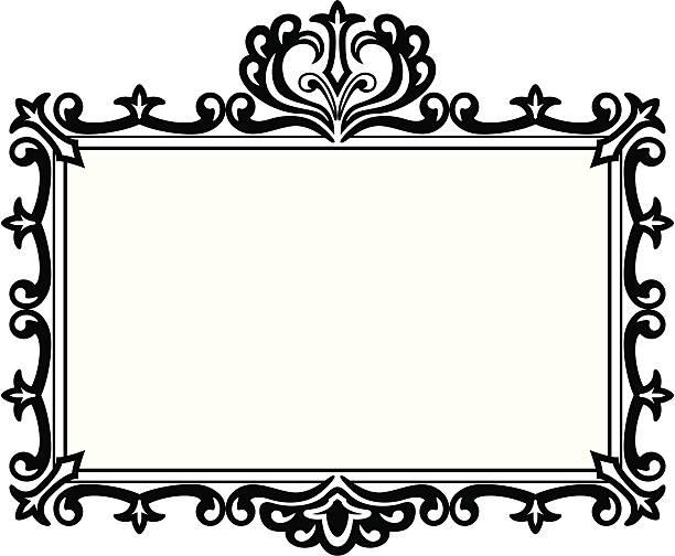 Royalty Free Fleur De Lis Picture Frames Clip Art Vector Images