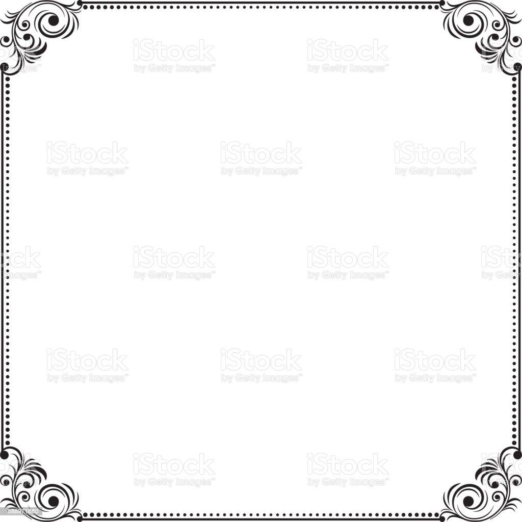 ornate black square border stock vector art amp more images