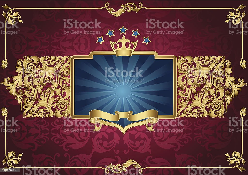 Ornate blank & emblem royalty-free stock vector art