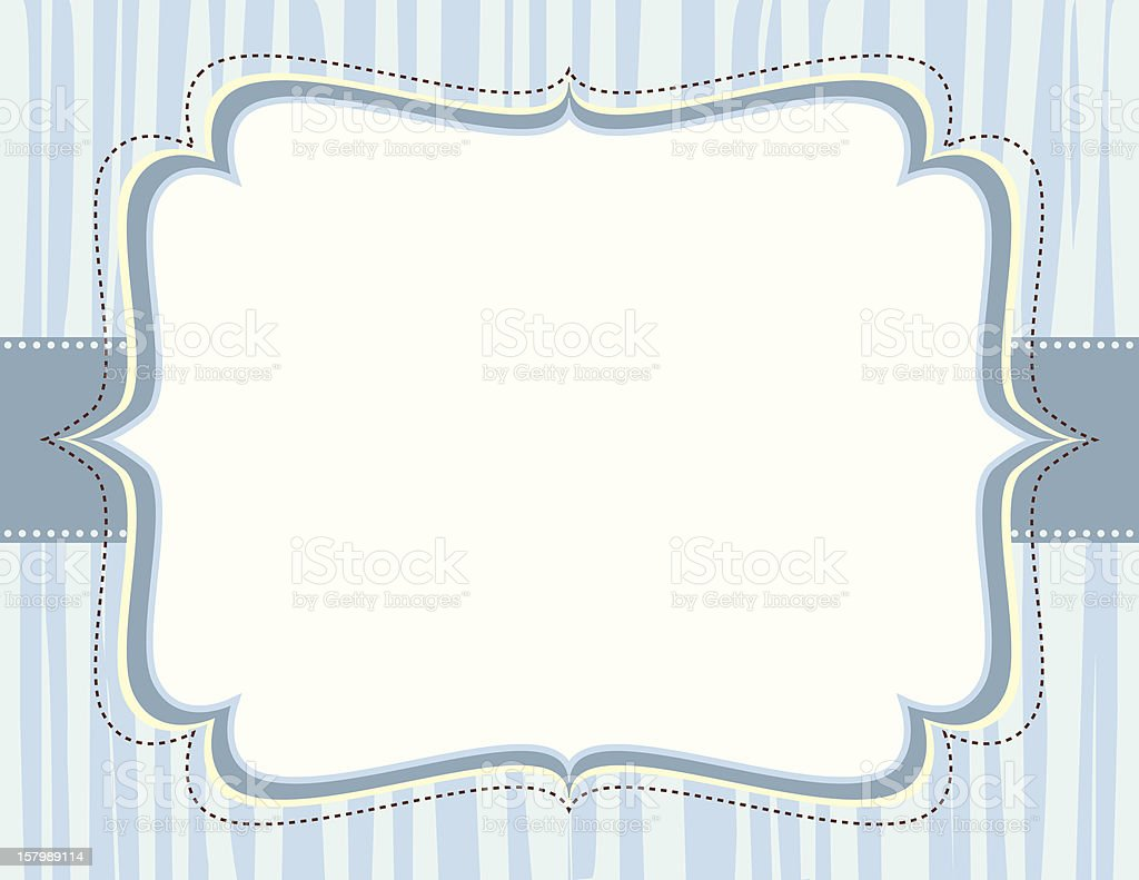 Ornate Blue Striped Frame royalty-free stock vector art