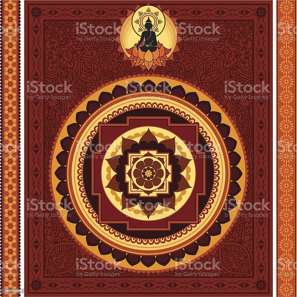 Ornate Buddha Mandala royalty-free stock vector art