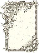 design element - rectangle vintage frame, vector artwork