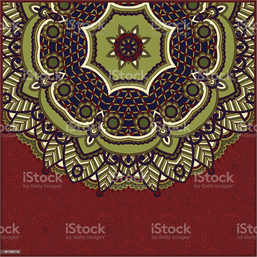 Ornate card with circle ornament royalty-free ornate card with circle ornament stock vector art & more images of abstract