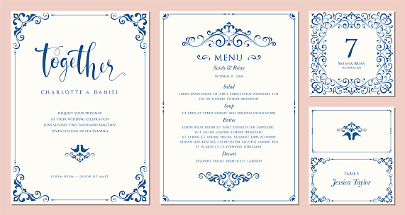 Ornate Cards Templates_01 clipart