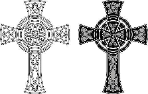 Ornate Celtic cross (Knotted cross variation n° 3)