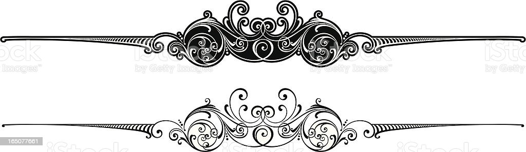 Ornate Centre Scroll royalty-free ornate centre scroll stock vector art & more images of antique