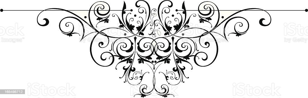 Ornate centre scroll vector art illustration