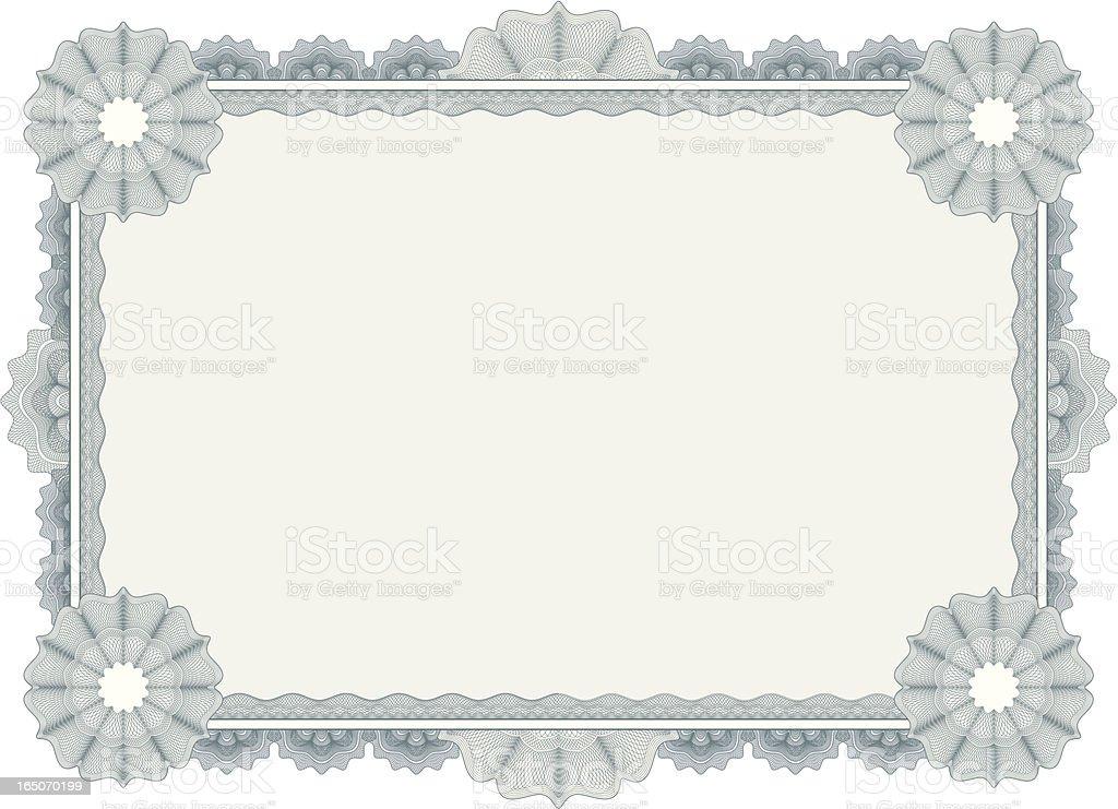 Ornate Certificate royalty-free stock vector art