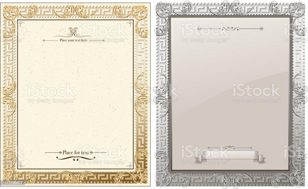ornate certificates royalty-free stock vector art