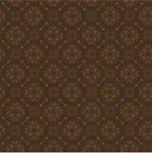 EPS, AI8, and High-Resolution JPG. Seamless ornate wallpaper pattern in a rich chocolate brown reminiscent of expensive luggage. Scalable -- looks great sized very small.