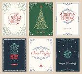 Ornate Christmas Greeting Cards Set