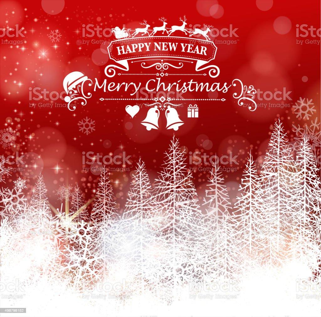 ornate christmas scenic vector art illustration