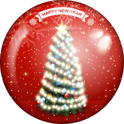ornate christmas tree shield