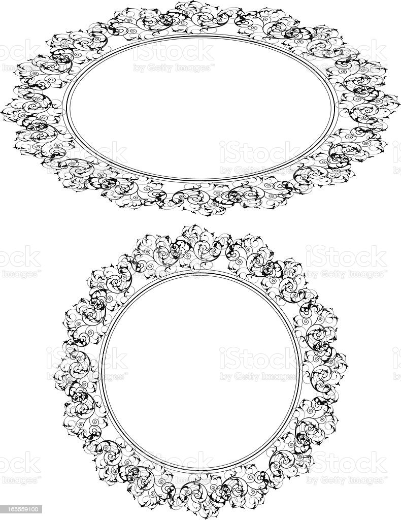 Ornate Circle Element royalty-free stock vector art