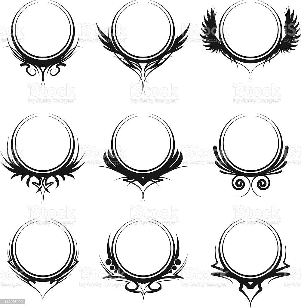 ornate circles royalty-free stock vector art