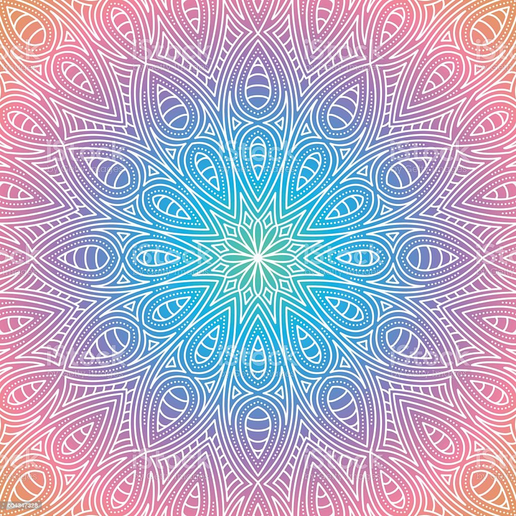 Ornate Circular Mandala Multicolored Designs Mandala designs with lots of ornate detail. Download includes an AI10 EPS (CMYK) as well as a high resolution RGB JPEG. Abstract stock vector