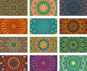 Mandala designs with lots of ornate detail. Download includes an AI10 EPS (CMYK) as well as a high resolution RGB JPEG.