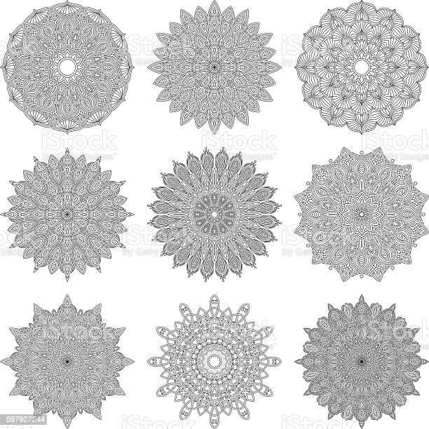 Ornate circular mandala set black and white line art vector id597927244?b=1&k=6&m=597927244&s=612x612&h=ta9jdjcpmt26mgxe8vxmg0juqqxnhvxyi0q9ubrafy8=