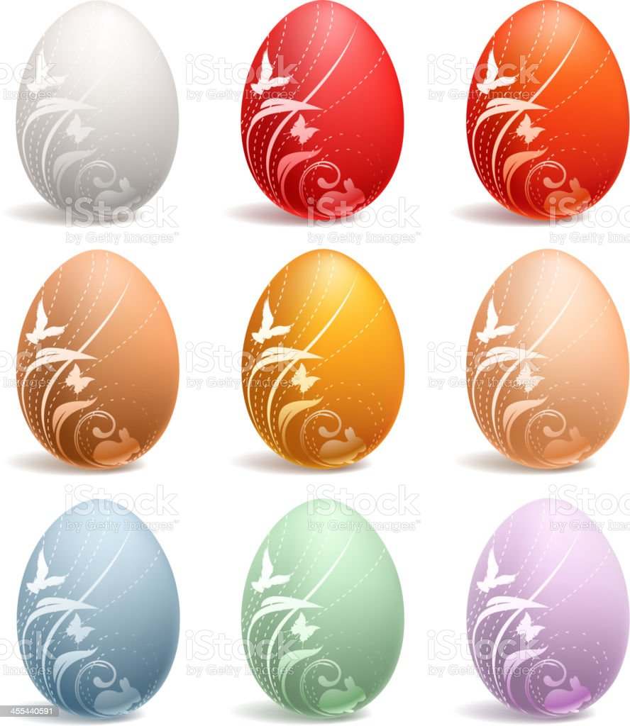 ornate color of egg royalty-free stock vector art